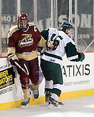 Shawn Baker (Norwich - 6), PT Donato (Babson - 15) - The Norwich University Cadets defeated the Babson College Beavers 4-1 on Friday, January 13, 2011, at Fenway Park in Boston, Massachusetts.