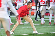 College Park, MD - NOV 12, 2016: Ohio State Buckeyes head coach Urban Meyer during warm up's before game between Maryland and Ohio State at Capital One Field at Maryland Stadium in College Park, MD. (Photo by Phil Peters/Media Images International)