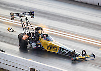 Sep 24, 2016; Madison, IL, USA; NHRA top fuel driver Doug Kalitta during qualifying for the Midwest Nationals at Gateway Motorsports Park. Mandatory Credit: Mark J. Rebilas-USA TODAY Sports