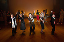 London, UK. 09.10.2014. Mountview Academy of Theatre Arts presents CURTAINS, at the Bernie Grant Arts Centre. Picture shows: Luke Bayer (CHRISTOPHER BELLING), Chloe Carroll (CARMEN BERNSTEIN), Joshua Lloyd (LIEUTENANT FRANK CIOFFI), Lottie Henshall (GEORGIA HENDRICKS) nd Liam Farrow (OSCAR SHAPIRO). Photograph © Jane Hobson.