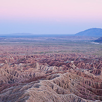 View from Font's Point over Borrego Badlands, Anza Borrego desert state park, California