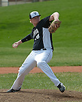 Vale's Brady Sharp pitches during the Vale-Weiser game on April 7, 2012 at Walter Johnson Memorial Field in Weiser, Idaho. Vale won the game 12-0 in five innings. Sharp pitched the fourth and fifth innings giving up no runs, no hits, three walks and striking out four. At the plate he went 1 for 3 with a walk and single.