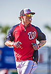 9 March 2014: Washington Nationals outfielder Nate McLouth runs bases prior to a Spring Training game against the St. Louis Cardinals at Space Coast Stadium in Viera, Florida. The Nationals defeated the Cardinals 11-1 in Grapefruit League play. Mandatory Credit: Ed Wolfstein Photo *** RAW (NEF) Image File Available ***