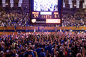 Around 4,500 Duke fans and students celebrate inside Cameron Indoor Stadium after the Blue Devils' thrilling victory over the Butler Bulldogs to win the NCAA championship, Mon., April 5, 2010. Duke defeated Butler 61-59 in a breathtaking finish to an unexpected championship season, the fourth for the university and Head Coach Mike Krzyzewski.