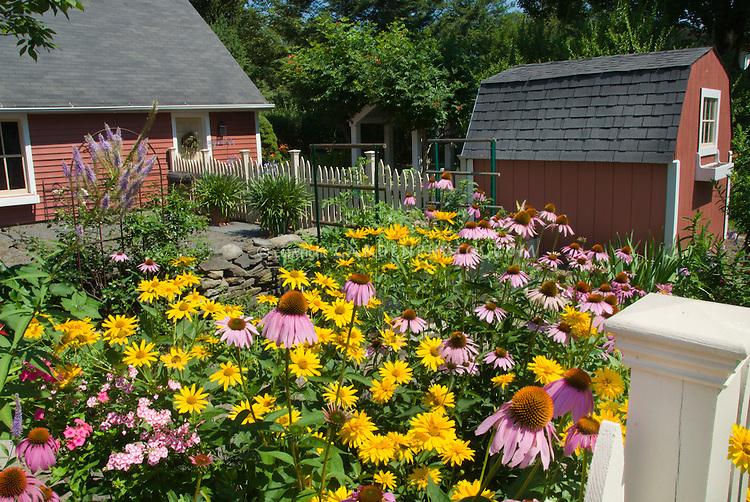 Beautiful Flowering Garden Backyard Long View Plant Amp Flower Stock Photography Gardenphotos Com