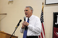 Apache Junction, Arizona. October 19, 2012 - Republican Arizona Senator Jon Kyl speaks at a Town Hall at the Mountain View Lutheran Church in Apache Junction, Arizona where he joined Congressman Jeff Flake. Flake is seeking to be elected for the senate seat Kyl is leaving as he retires. Photo by Eduardo Barraza © 2012