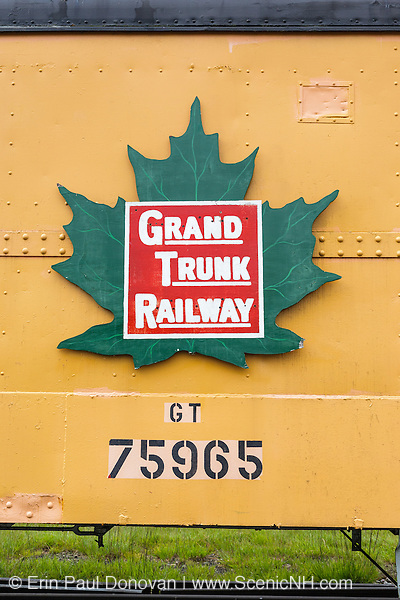 1942 caboose on display at the Grand Trunk Railroad Museum in Gorham, New Hampshire USA.