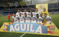 CALI - COLOMBIA – 13 -02-2017: Los jugadores de Patriotas FC, posan para una foto, durante partido entre Cortulua y Patriotas FC, por la fecha 3 de la Liga Aguila I 2017 jugado en el estadio Pascual Guerrero de la ciudad de Cali. / The players of Patriotas FC, pose for a photo, during a match Cortulua and Patriotas FC, for the date 3 of the Liga Aguila I 2017 played at the Pascual Guerrero stadium in Cali city. Photo: VizzorImage / Luis Ramirez / Staff.