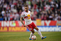 Jonny Steele (22) of the New York Red Bulls. The New York Red Bulls and the Colorado Rapids played to a 1-1 tie during a Major League Soccer (MLS) match at Red Bull Arena in Harrison, NJ, on March 15, 2014.