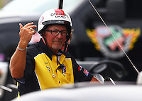 Apr 26, 2015; Baytown, TX, USA; NHRA Safety Safari official during the Spring Nationals at Royal Purple Raceway. Mandatory Credit: Mark J. Rebilas-