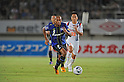 Rafinha (Gamba), Shin Kanazawa (Ardija), SEPTEMBER 10, 2011 - Football / Soccer : 2011 J.League Division 1 match between Gamba Osaka 2-0 Omiya Ardija at Expo '70 Stadium in Osaka, Japan. (Photo by AFLO)