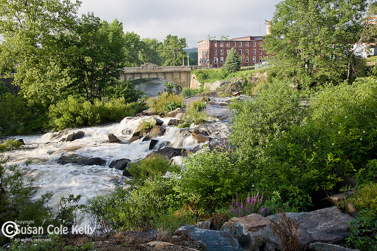 Old mill town on the Quinebaug River in Connecticut's Quiet Corner. Putnam, CT