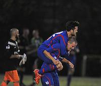VOETBAL: HEERENVEEN: 07-11-2015, Heerenveense Boys - Zwaagwesteinde, , Rene Nauta (#10) scoorde drie keer, Wymer de Vries (#12), uitslag 2-3, ©foto Martin de Jong