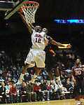 Ole Miss' Chris Warren (12) vs. Auburn's Dewayne Reed (12) in Oxford, Miss. on Wednesday, February 24, 2010. Ole Miss won 85-75, giving Kennedy his 100th win as a head coach.