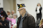 World War 2 and Korean War veteran Aaron Condon attends a Veterans Day program at the Patricia C. Lamar Readiness Center in Oxford, Miss. on Monday, November 12, 2012.