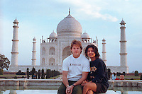 With Farah Rahman at the Taj Mahal, 1990.