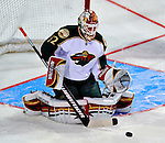 24 January 2009: Phoenix Coyotes goaltender Mikael Tellqvist warms up prior to the NHL SuperSkills Competition, part of the All-Star Weekend at the Bell Centre in Montreal, Quebec, Canada. ***** Editorial Sales Only ***** Mandatory Photo Credit: Ed Wolfstein Photo