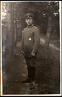 BNPS.co.uk (01202 558833)<br /> Pic: Ratisbons/BNPS<br /> <br /> Pilot Emil Buge in 1918.<br /> <br /> A personal archive belonging to a hero German pilot of the First World War who fought to bring down the Nazis in the second has been discovered.<br /> <br /> Emil Buge flew on 37 sorties against the British on the Western Front, dropping 27 bombs, 128 grenades and firing 9,500 rounds of ammunition.<br /> <br /> Despite his heroics in 1918, Buge was imprisoned at a murderous concentration camp by his own country in the Second World War as a political prisoner. He used his position as an inmate clerk to gather evidence of SS atrocities.