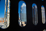 Downtown Austin as seen from the Austonian in Austin Texas, February 11, 2009.  The Austonian is a residential skyscraper currently under construction in Austin. Upon completion in 2009, the building will be the tallest in Austin at 683 feet tall with 56 floors.