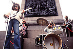 ELO 1973 Electric Light Orchestra film US TV show in London's Trafalgar Square<br /> &copy; Chris Walter