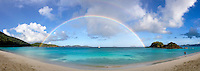 Rainbow over Trunk Bay<br />