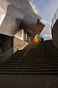 WA08207-00...WASHINGTON - Stairs leading to the main entrance of the EMP (Experience Music Project) music and science fiction museum at the Seattle Center in downtown Seattle.
