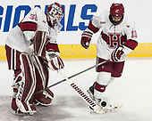 Cameron Gornet (Harvard - 32), Nathan Krusko (Harvard - 13) - The Harvard University Crimson defeated the Air Force Academy Falcons 3-2 in the NCAA East Regional final on Saturday, March 25, 2017, at the Dunkin' Donuts Center in Providence, Rhode Island.
