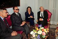 Roma 12 Gennaio 1987.Bettino Craxi Presidente del Consiglio  in occasione dell'incontro con il Presidente della Polonia  Generale  Wojciech Witold Jaruzelski a Palazzo Chigi..