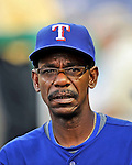 20 June 2008: Texas Rangers' Manager  Ron Washington looks down the dugout prior to the first game of their 3-game series against the Washington Nationals at Nationals Park in Washington, DC. The Nationals rallied in the eighth to tie, and then win 4-3 in the 14th inning of their inter-league matchup...Mandatory Photo Credit: Ed Wolfstein Photo