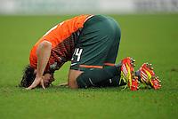 FUSSBALL   1. BUNDESLIGA   SAISON 2011/2012    17. SPIELTAG FC Schalke 04 - SV Werder Bremen                            17.12.2011 Claudio Pizarro (SV Werder Bremen) enttaeuscht