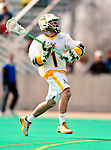 19 March 2011: University of Vermont Catamount Attacker Connor McNamara, a Freshman from Winchester, MA, in action against the St. John's University Red Storm at Moulton Winder Field in Burlington, Vermont. The Catamounts defeated the visiting Red Storm 14-9. Mandatory Credit: Ed Wolfstein Photo