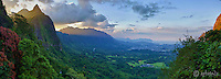 Pali Sunset Panoramic