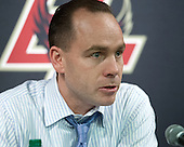 Mike Cavanaugh (BC - Associate Head Coach) - The Boston College Eagles defeated the visiting University of New Hampshire Wildcats 5-2 on Friday, January 11, 2013, at Kelley Rink in Conte Forum in Chestnut Hill, Massachusetts.