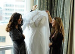 January wedding.Tappan Hill Mansion.Bride gets ready at Ritz Carlton, White Plains.