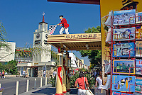 Farmers Market, Clock Tower,  Gilmore, Gas Station, Mid Wilshire, Los Angeles CA,