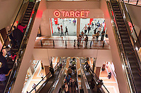 Customers at the Target store in the Atlantic Center in Brooklyn in New York on Saturday, May 23, 2015.  (© Richard B. Levine)