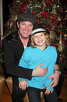 LOS ANGELES - DEC 17:  Winsor Harmon and son at the 2011 Tom / Achor Annual Christmas Party at Private Home on December 17, 2011 in Glendale, CA