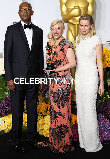 HOLLYWOOD, LOS ANGELES, CA, USA - MARCH 02: Samuel L. Jackson, Catherine Martin, Naomi Watts at the 86th Annual Academy Awards - Press Room held at Dolby Theatre on March 2, 2014 in Hollywood, Los Angeles, California, United States. (Photo by Xavier Collin/Celebrity Monitor)