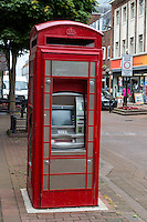 Carlisle, England, UK.  ATM Machine now Occupies an Old  Re-purposed British Telephone Booth.