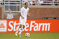 7 June 2011: USA Men's National Team midfielder Landon Donovan (10) dribbles the ball during the CONCACAF soccer match between USA and Canada at Ford Field Detroit, Michigan. USA won 2-0.
