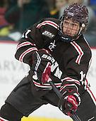 Joey de Concilys (Brown - 11) - The visiting Brown University Bears defeated the Harvard University Crimson 2-0 on Saturday, February 22, 2014 at the Bright-Landry Hockey Center in Cambridge, Massachusetts.