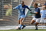 30 August 2009: North Carolina's Ashlyn Harris (18) with Merritt Mathias (right). The University of North Carolina Tar Heels defeated the University of North Carolina Greensboro Spartans 1-0 at Fetzer Field in Chapel Hill, North Carolina in an NCAA Division I Women's college soccer game.