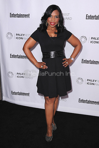 BEVERLY HILLS, CA - MARCH 10:   Lauren Lake arrives at the 2014 PaleyFest Icon Award to Judd Apatow at the Paley Center for the Media on March 10, 2014 in Beverly Hills, California. MPI213/MediaPunch