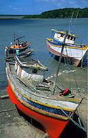 Fishing boats at Sao Joao de Pirabas port, Atlantic Coast, Para, Brazil