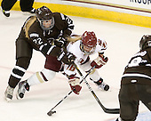 Kelly Kittredge (Brown - 22), Kelli Stack (BC - 16) - The Boston College Eagles defeated the visiting Brown University Bears 5-2 on Sunday, October 24, 2010, at Conte Forum in Chestnut Hill, Massachusetts.