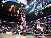 Dwyane Wade of the Heat shoots over Nick Young of the Wizards. Miami defeated Washington 106-89 at the Verizon Center in Washington, D.C. on Friday, February 10, 2012. Alan P. Santos/DC Sports Box