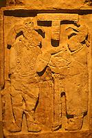 Lintel 26 from the Maya ruins of Yaxchilan in Chiapas, Mexico. Museo Nacional de Antropologia, Chapultepec Park, Mexico City.