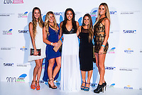 SURFERS PARADISE, Queensland/Australia (Friday, March 1, 2013) Monyca Byrne-Wickey (HAW) , Coco Ho (HAW), Kelia Moniz (HAW), Nage Melamed (HAW) and Alana Blanchard (HAW). - The world's best surfers congregated last night at the QT Hotel in Surfers Paradise to celebrate the 2013 ASP World Surfing Awards, officially crowning last year's ASP World Champions and welcoming in the new year..Joel Parkinson (AUS), 31, long considered to be a threat to the ASP World Title ever since his inception amongst the world's elite over a decade ago, was awarded his maiden crown last night. Amidst a capacity crowd of the world's best surfers and hometown supporters, the Gold Coast stalwart brought the house down with a heartfelt and emotional speech..?It's beautiful to have everyone here tonight,? Parkinson said. ?We all come together and really celebrate last season amongst our friends and family. The new year, for me, begins tomorrow. Tonight, I just feel so fortunate to be up here and to be supported by my beautiful family. I love them and am only here because of them.?.FULL LIST OF AWARDS' RECIPIENTS:.2012 ASP World Champion: Joel Parkinson (AUS).2012 ASP World Runner-Up: Kelly Slater (USA).2012 ASP Rookie of the Year: John John Florence (HAW).2012 ASP Women's World Champion: Stephanie Gilmore (AUS).2012 ASP Women's World Runner-up: Sally Fitzgibbons (AUS).2012 ASP Women's Rookie of the Year: Malia Manuel (HAW).2012 ASP Breakthrough Performer: Sebastian Zietz (HAW).2012 ASP Women's Breakthrough Performer: Lakey Peterson (USA).2012 ASP World Longboard Champion: Taylor Jensen (USA).2012 ASP Women's World Longboard Champion: Kelia Moniz (HAW).2012 ASP World Junior Champion: Jack Freestone (AUS).2012 ASP Women's World Junior Champion: Nikki Van Dijk (AUS).ASP Life Member/Chairman Emeritus: Richard Grellman.ASP Service to the Sport: Randy Rarick.Peter Whittaker Award: Adrian Buchan.2012 ASP Men's Heat of the Year (Fan Vote): Mick Fanning (AUS) vs. Kelly Slater (USA) - Rip Curl Pro Bell
