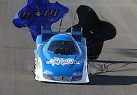 Feb. 23, 2013; Chandler, AZ, USA; NHRA funny car driver Terry Haddock during qualifying for the Arizona Nationals at Firebird International Raceway. Mandatory Credit: Mark J. Rebilas-