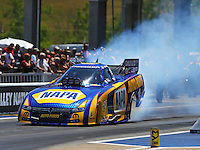 Jun 18, 2016; Bristol, TN, USA; NHRA funny car driver Ron Capps during qualifying for the Thunder Valley Nationals at Bristol Dragway. Mandatory Credit: Mark J. Rebilas-USA TODAY Sports